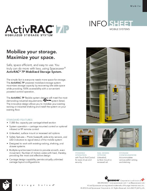 Free Download Info Sheet: ActivRAC 7P