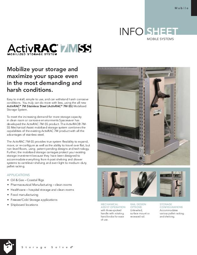 Free Download Info Sheet: ActivRAC 7M Stainless Steel (SS)