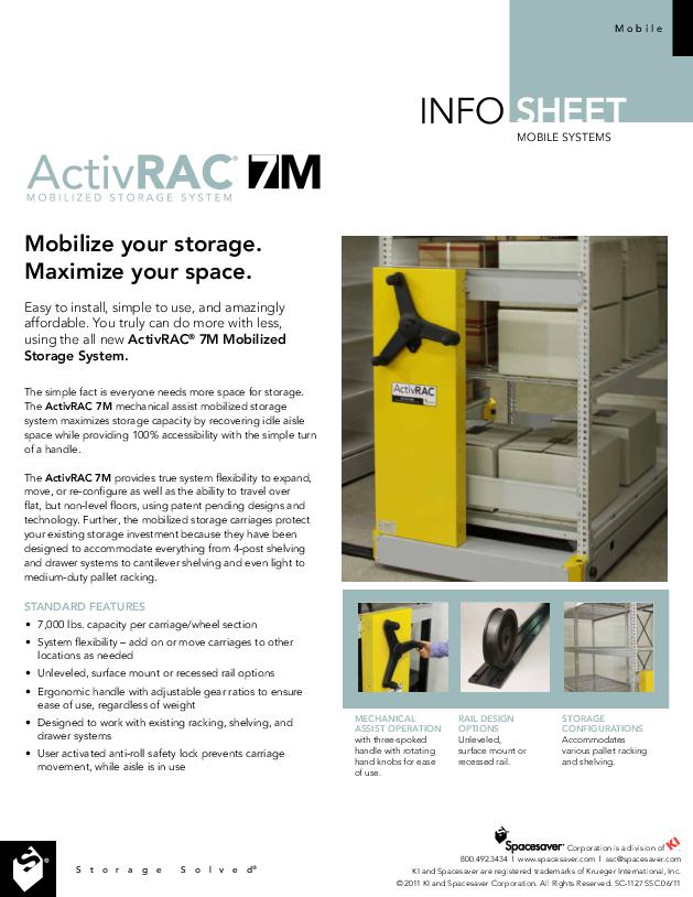 Free Download Info Sheet: Mechanical-Assist ActivRAC 7M