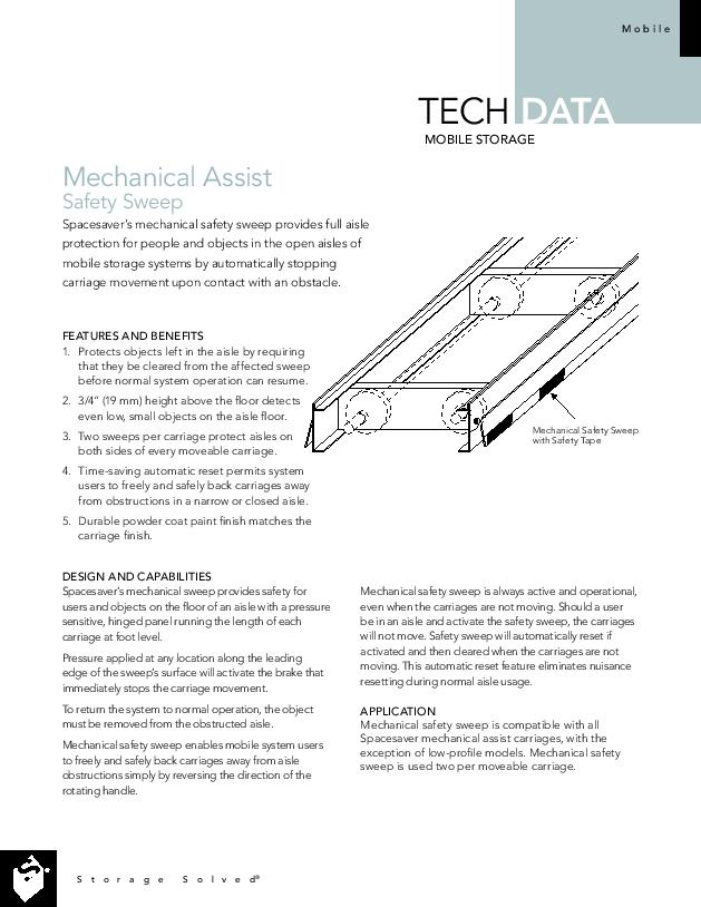 Free Download Tech Data: Mechanical Assist Safety Sweep