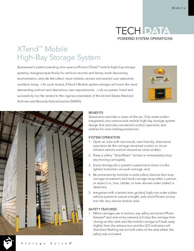 Free Download Tech Data: Xtend Mobile High-Bay Storage