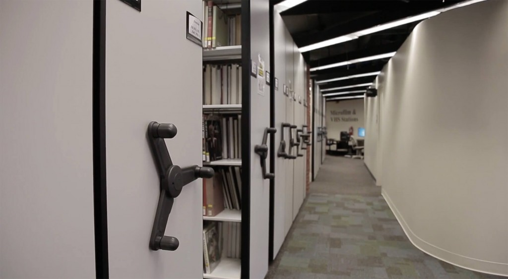 Library book storage on mechanical assist mobile system at Gettysburg College