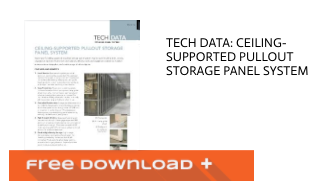 Free Download Tech Data: Ceiling-supported Pullout Storage Panel System