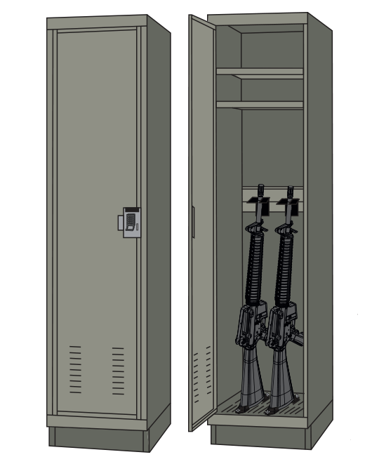 fast response weapon security storage