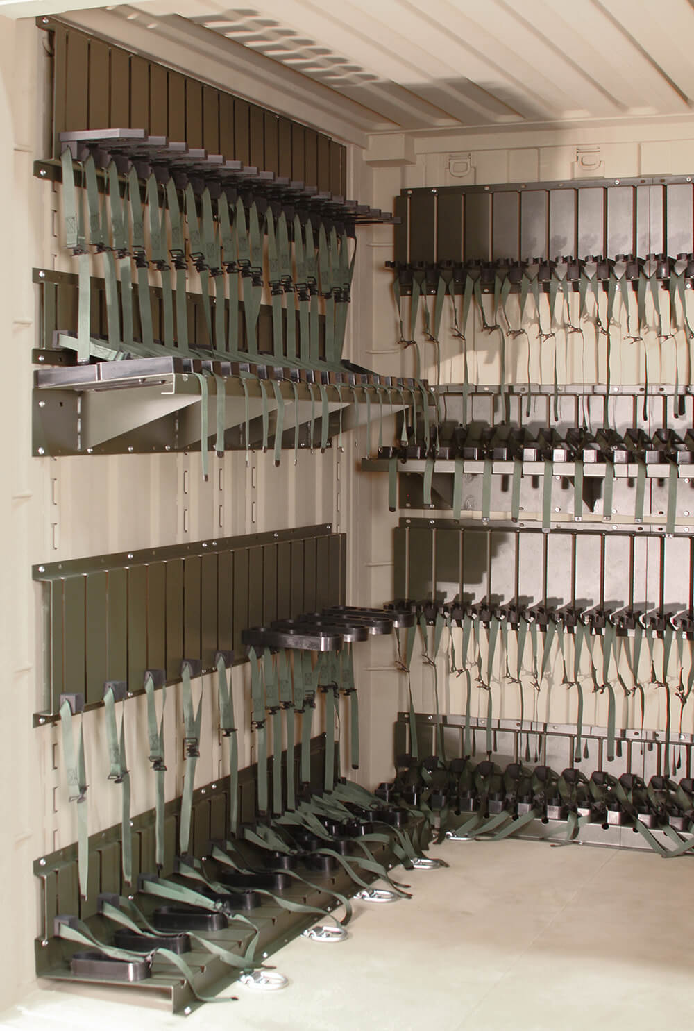 The Universal Expeditionary™ Weapons Storage System (TriCON Weapon Storage System) Maximized Weapon Storage