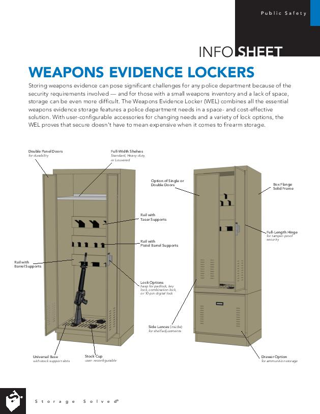 Free Download Info Sheet: Weapons Evidence Locker
