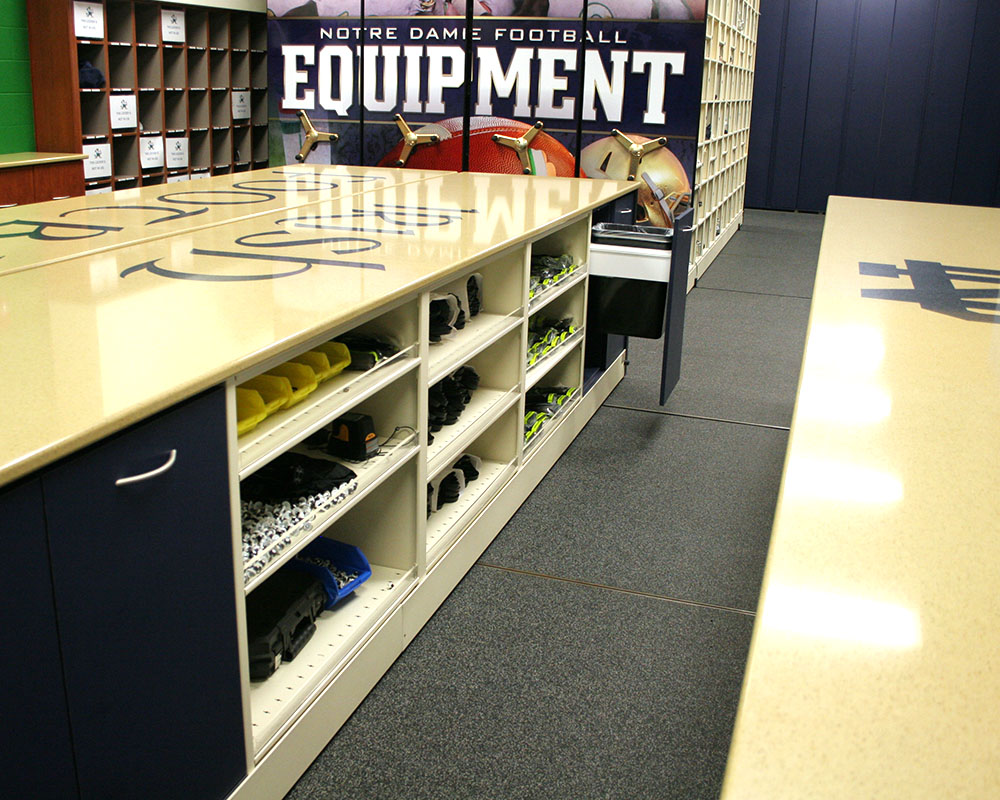 Football equipment room storage