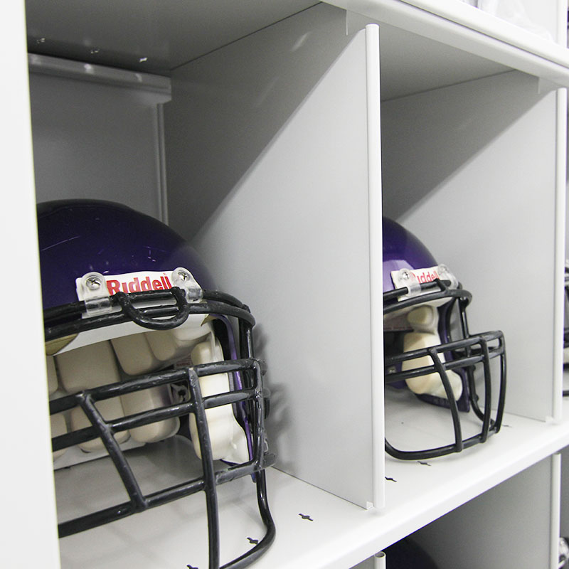 football-helmet-storage-compact shelving