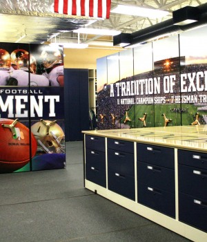 Football team equipment storage - compact storage from Spacesaver