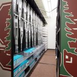 heavy-duty steel pegboard for sports athletic storage