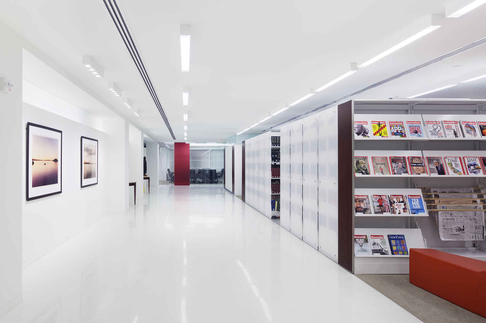 Recycled shelving content in LEED library design