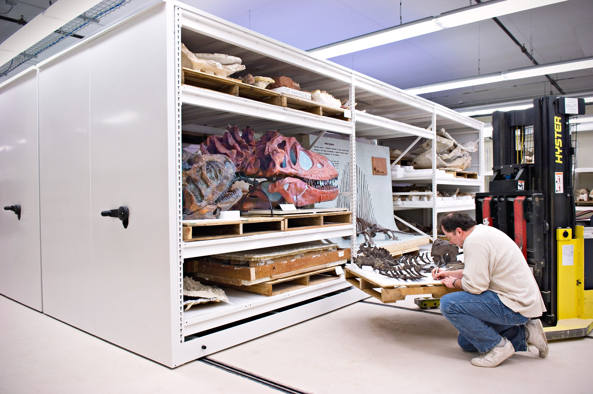 Museum Storage Compact Shelving At The Field Museum