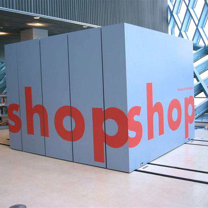 configurable space for shop at library, office
