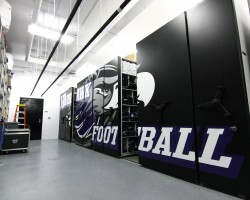 football team equipment storage