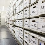 evidence storage, long term, short term, spacesaver, compact shelving, shelves on rails, shelves that move,