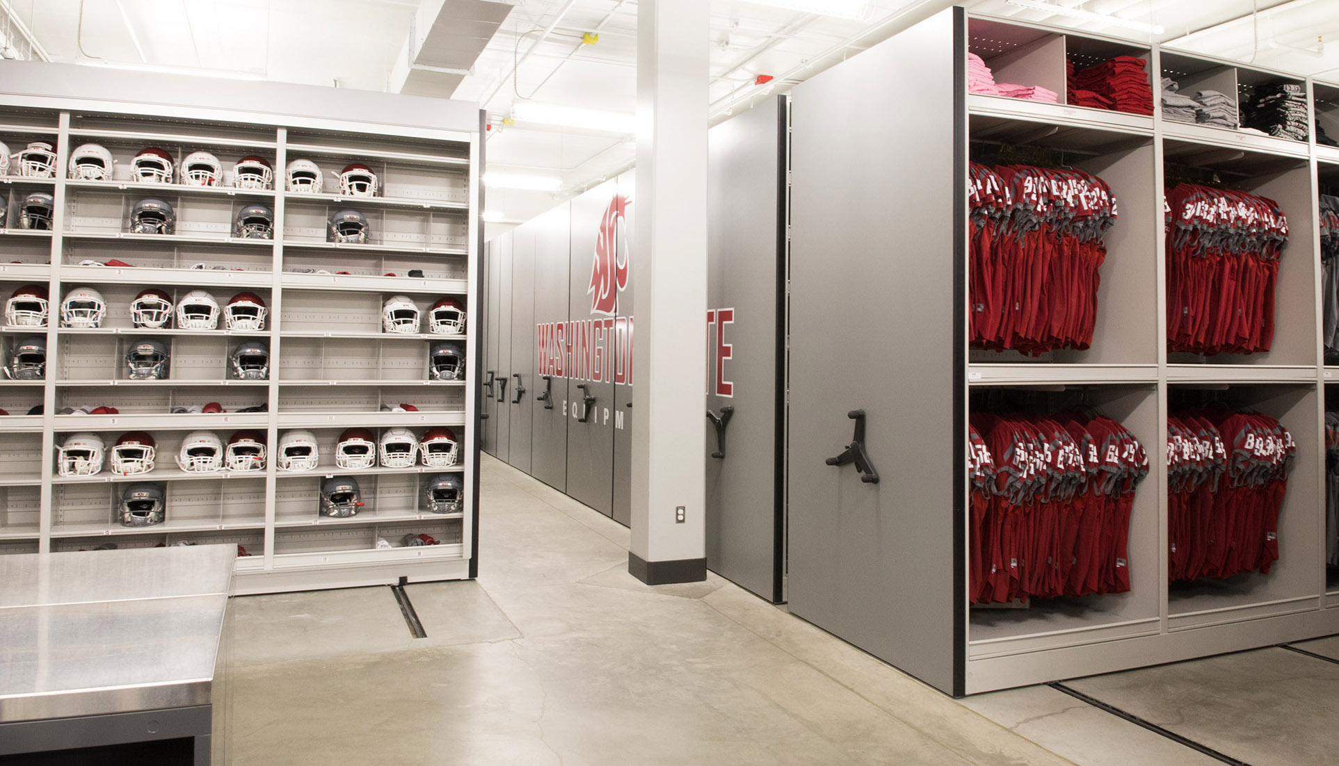 Football equipment room storage ideas Store room design ideas