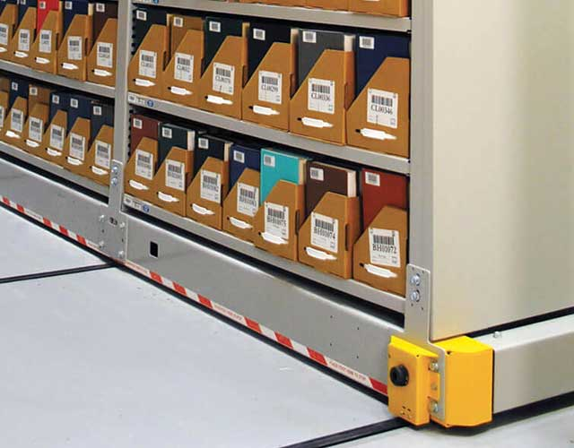 high-bay shelving safety features