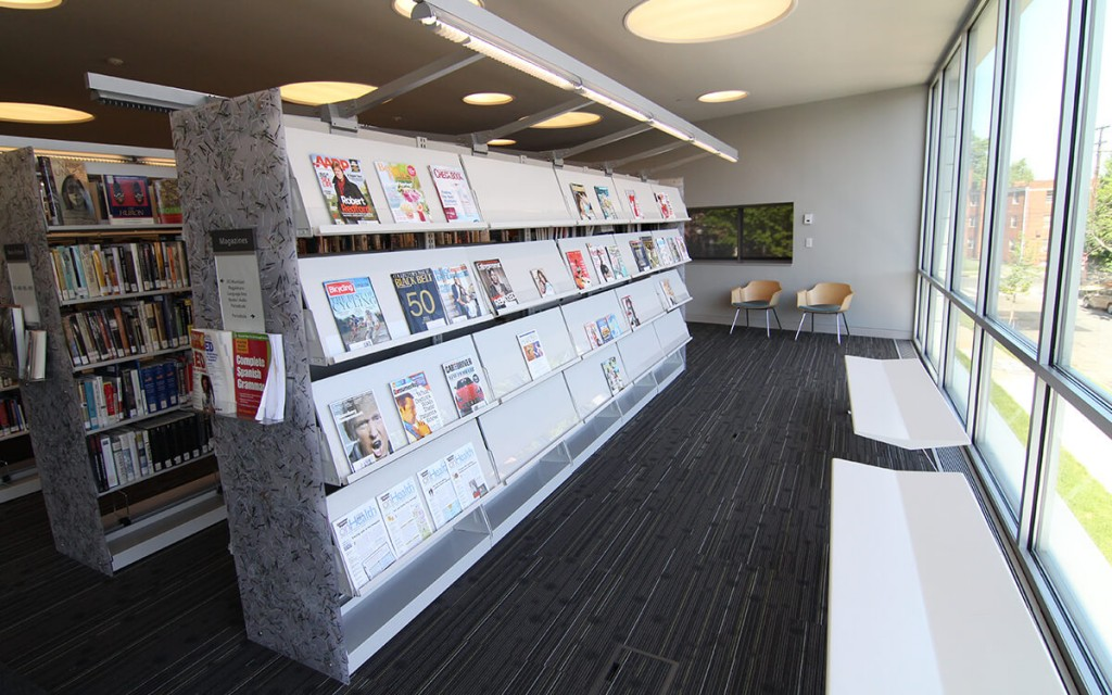 Cantilever Library Shelving at Anacostia Public Library