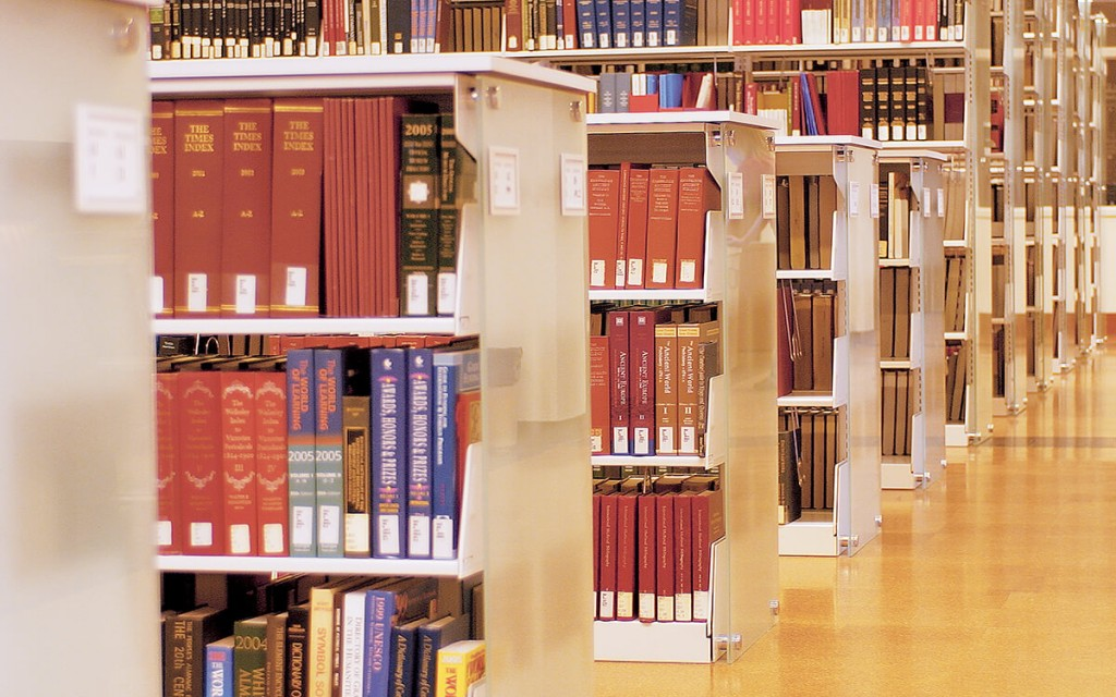 Cantilever Library Shelving at College of Charleston