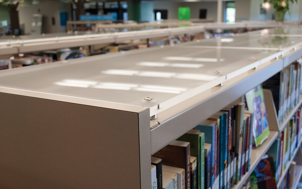 Custom Library Shelving Top at Richland County Library, Eastover, South Carolina