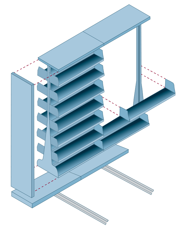 Mobile Cantilever Shelving