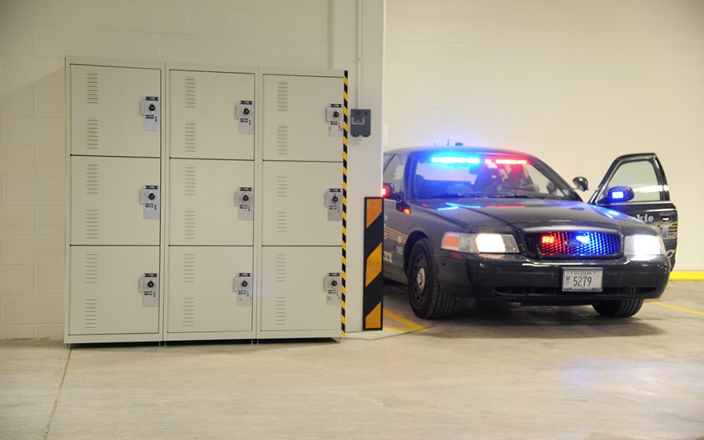 Police Gear Lockers, Police Car Port, Skokie PD, Illinois
