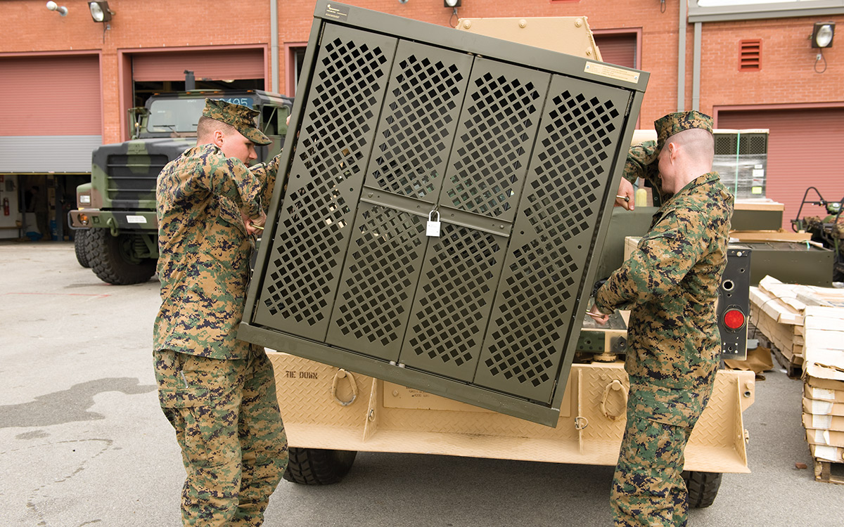 Soldiers transport UWR® Universal® Weapon Rack