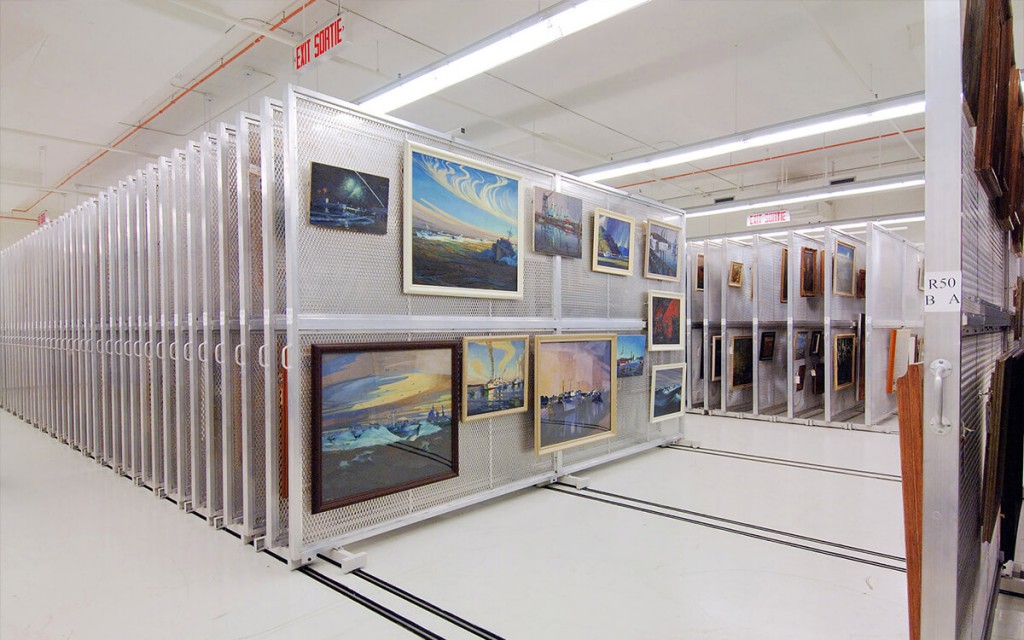 Art-Storage-Racks-on-Sliding-Shelving