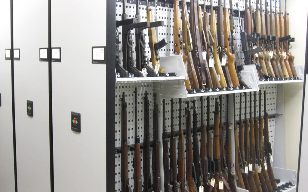 Illinois Metro East Forensic Science Lab weapon storage on WeaponWRX