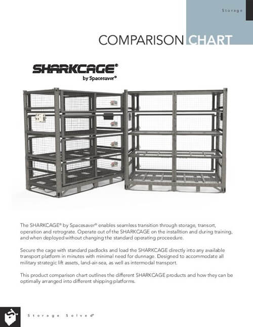 Download Comparison Chart: SHARKCAGE® by Spacesaver