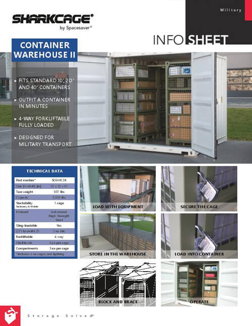 Download Info Sheet: SHARKCAGE® – Container Warehouse II