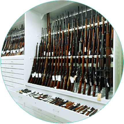 Weapon Racks on Shelving