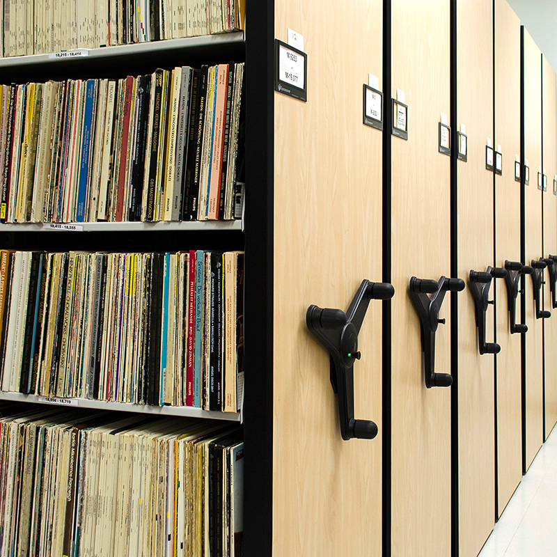musical-recording-storage-compactor-moveable-shelves