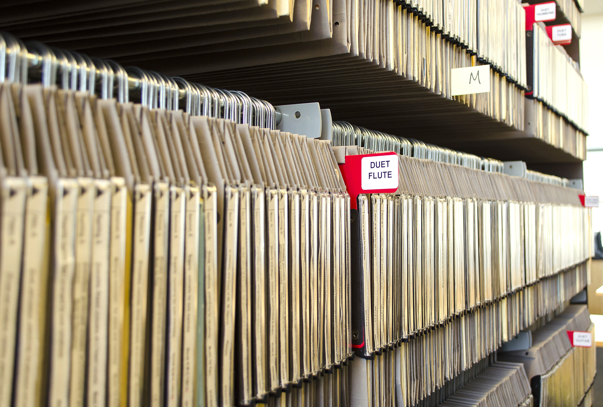Sheet Music Storage in a Music Library