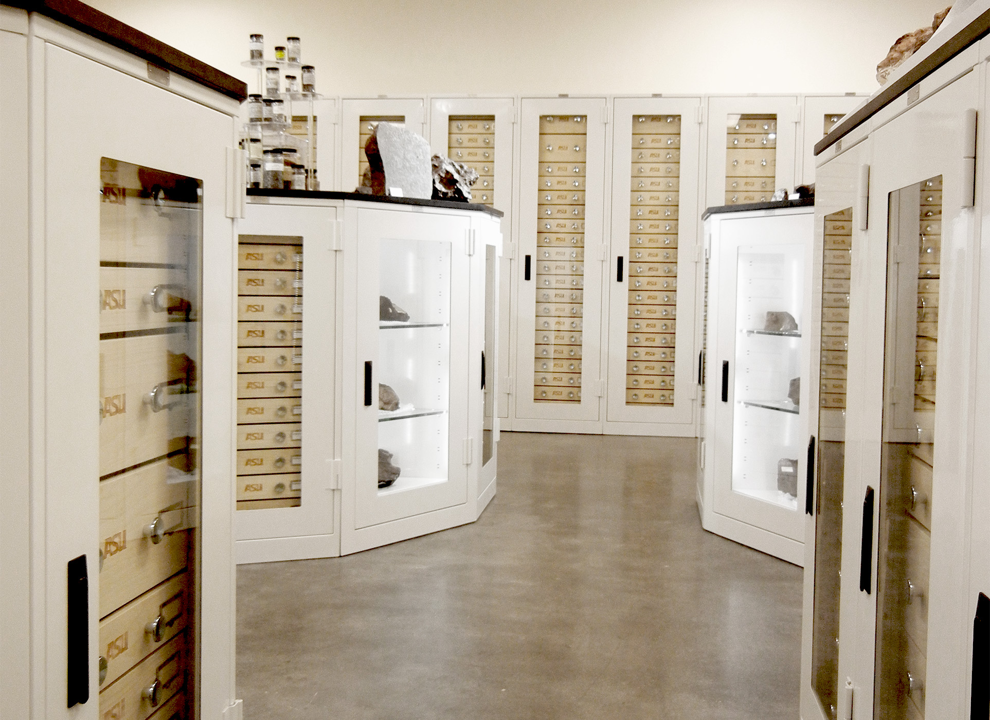 Custom Museum Cabinets Center For Meteorite Studies