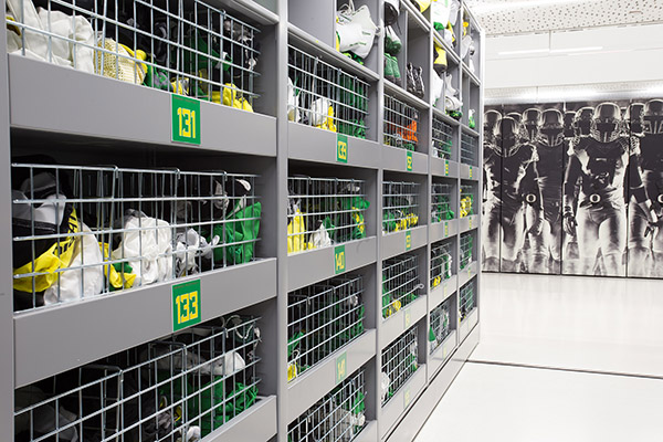 Oregon Ducks Equipment Room