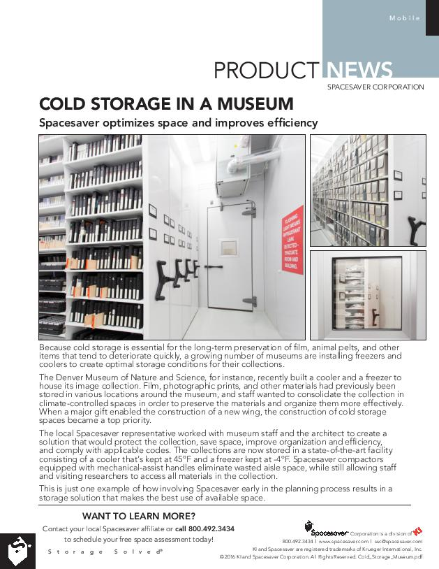 Free Download Product News: Cold Storage in a Museum