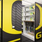 softball equipment storage, helmet storage, bat storage, sports team uniforms storage