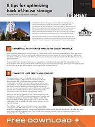 Free Download on 8 Tips for Optimizing Back-of-House Storage for the Hospitality Industry