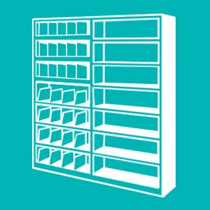 Spacesaver 4 Post Shelving Solution for Libraries