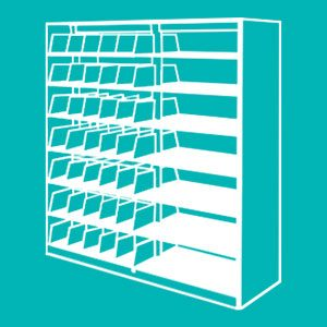 Spacesaver Cantilever Shelving Solution for Libraries