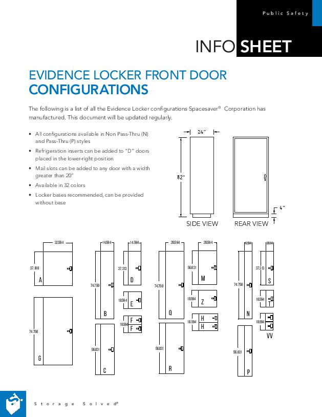Free Download of Our Evidence Locker Front Door Configurations