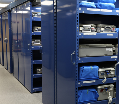 Healthcare Storage Products - LevRACK Rail-less Mobile System