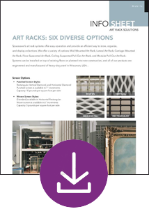 Free Download Info Sheet: Art Racks-Six Diverse Options