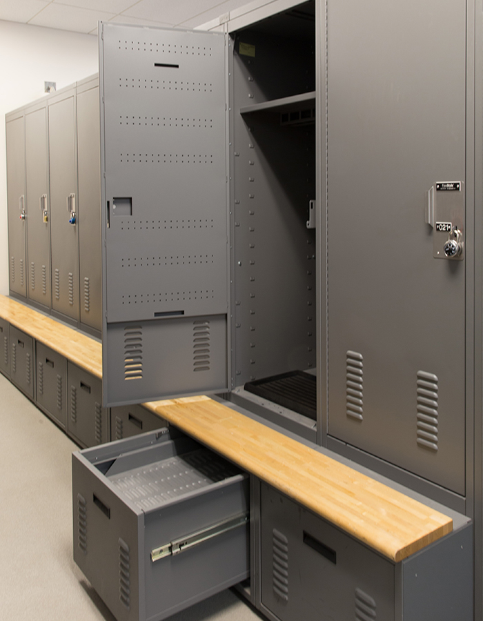Personal Lockers with drying drawers
