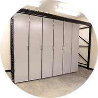 The solution is organized athletic equipment on a Levpro system