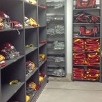 Mobile Shelving for Football Storage