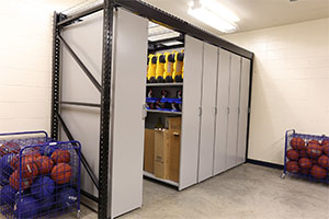 Gym Equipment Storage System