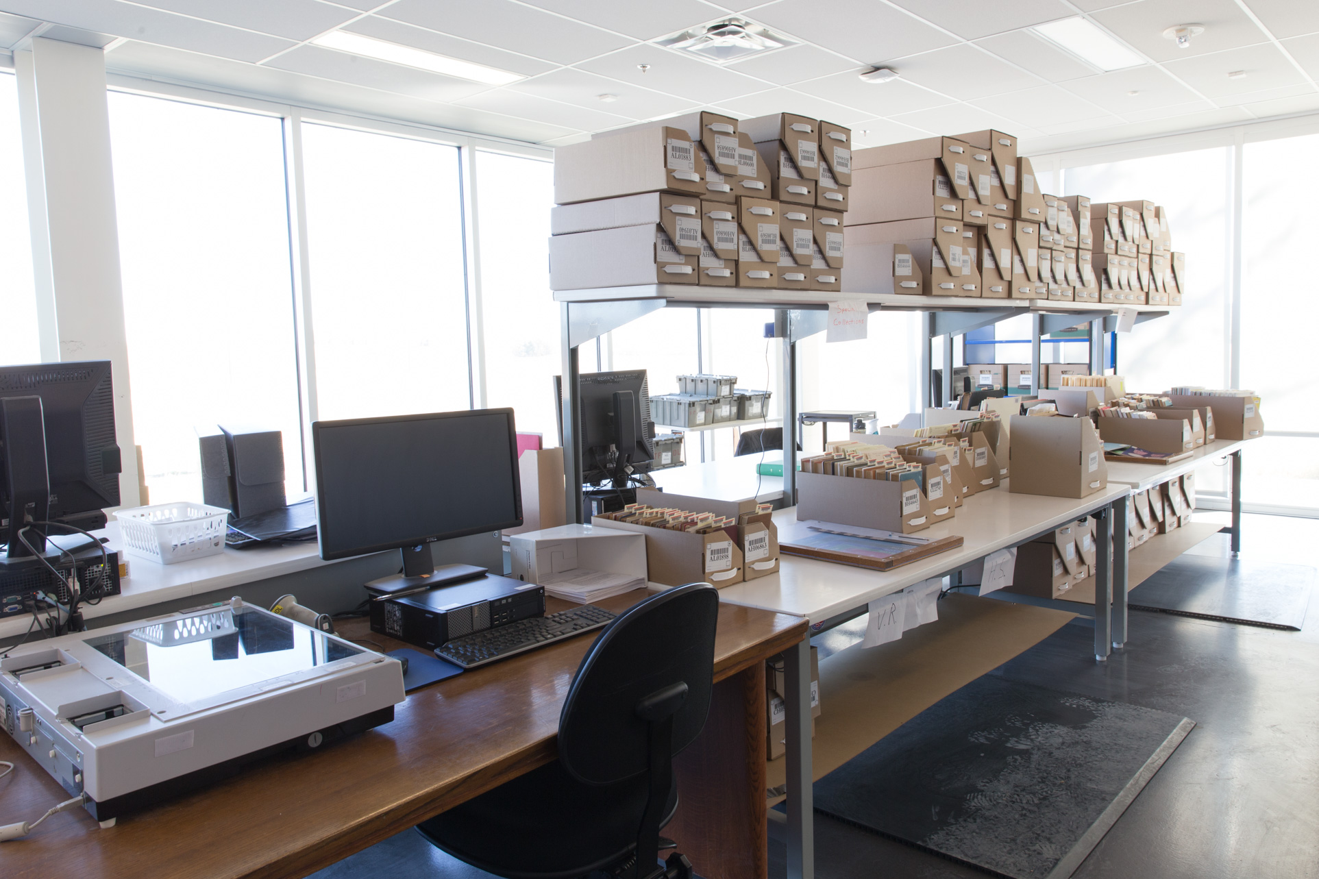 office book processing area