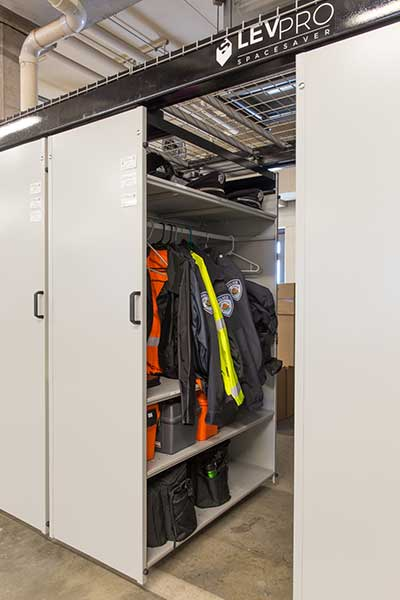 Police Department Gear Storage